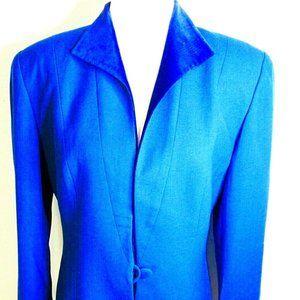 VTG CHRISTIAN DIOR Royal Blue Wool Blazer/Jacket 8